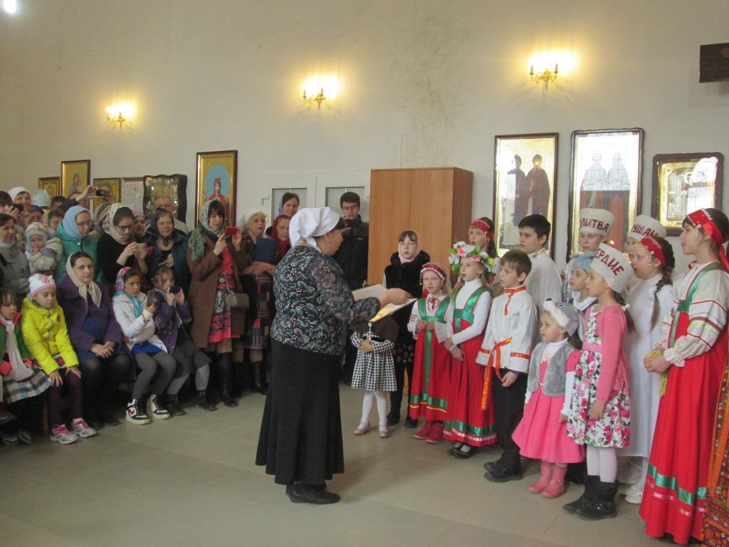 Детский утренник для всех детей и прихожан храма поселка Товарково Калужская