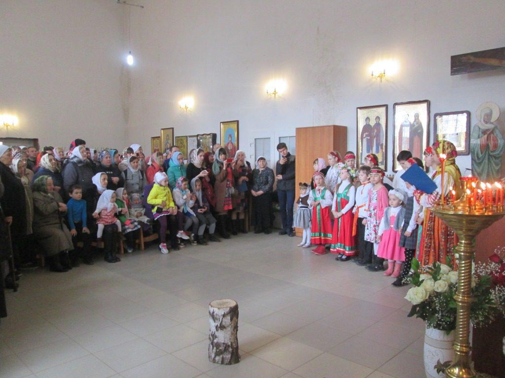Детский утренник для всех детей и прихожан храма поселка