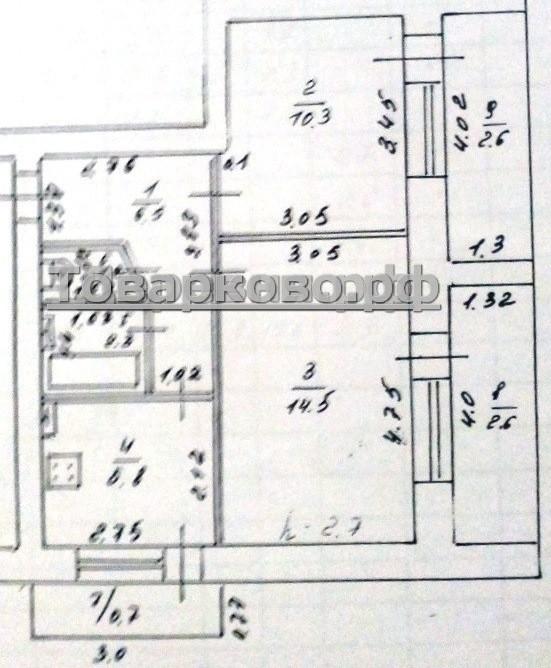 планировка квартира набережная Товарково